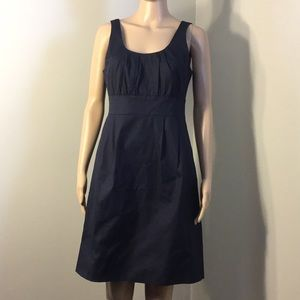 J. CREW SUITING : DARK BLUE SLEEVELESS DRESS, sz 8